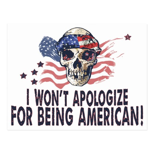 I won't apologize for being American Gear Postcard