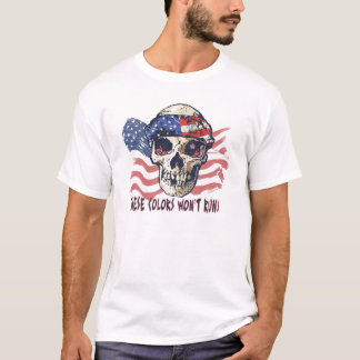 I won't apologize for being American Skull Gear T-Shirt