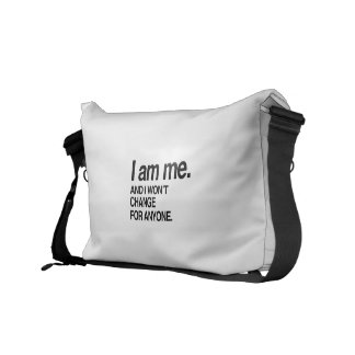 I WON'T CHANGE FOR ANYONE COURIER BAG