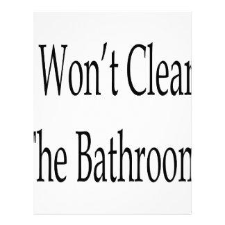 I Won't Clean The Bathroom Custom Letterhead