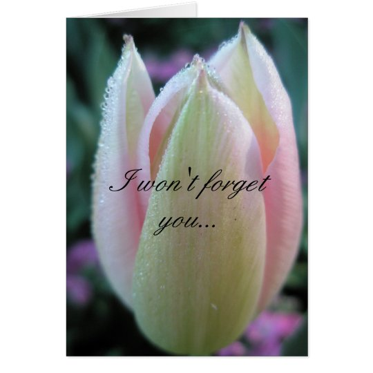I won't forget you... card