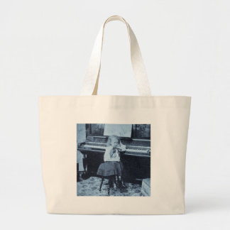 I Won't Practice Another Minute Vintage Stereoview Jumbo Tote Bag