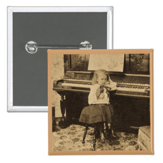 I Won't Practice Another Minute Vintage Stereoview Pinback Button