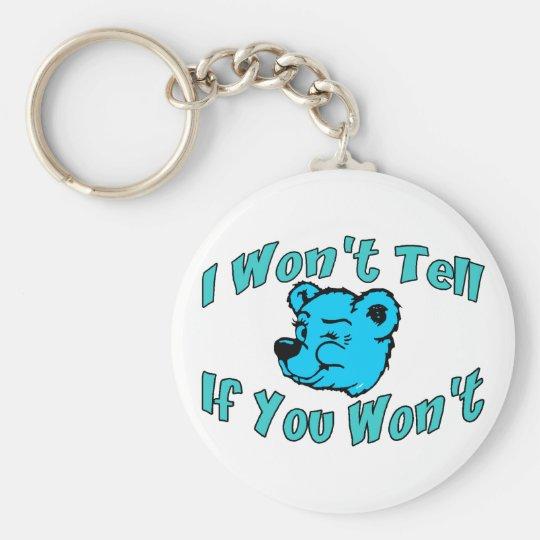 I Won't Tell Keychain