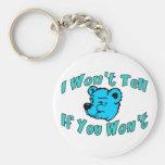 I Won't Tell Keychains