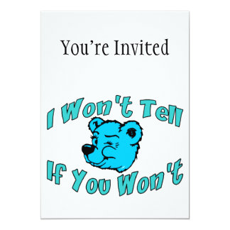 I Won't Tell Secret Bear Card