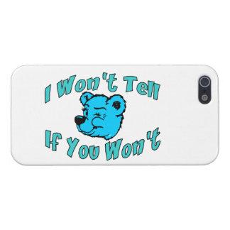 I Won't Tell Secret Bear Case For iPhone SE/5/5s