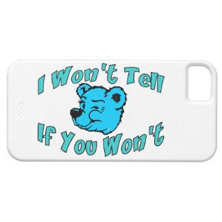 I Won't Tell Secret Bear iPhone SE/5/5s Case