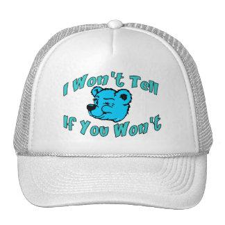 I Won't Tell Secret Bear Trucker Hat