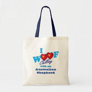I Woof  Australian Shepherd Bag