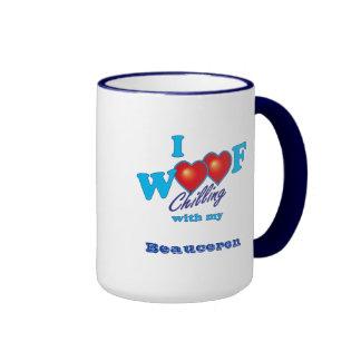 I Woof Beauceron Ringer Mug