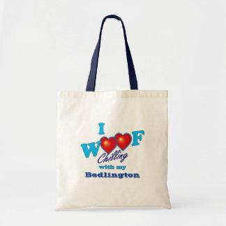 I Woof Bedlington Tote Bag