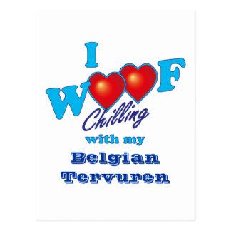 I Woof Belgian Tervuren Postcard