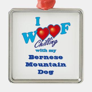 I Woof Bernese Mountain Dog Metal Ornament