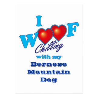 I Woof Bernese Mountain Dog Postcard