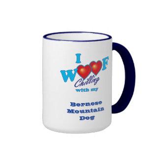 I Woof Bernese Mountain Dog Ringer Mug