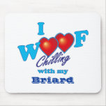 I Woof Briard Mouse Pad