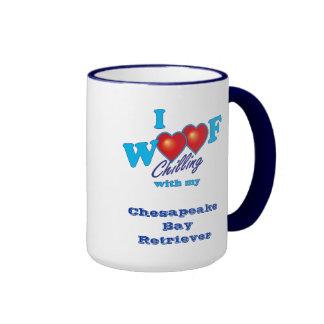 I Woof Chesapeake Bay Retriever Ringer Mug