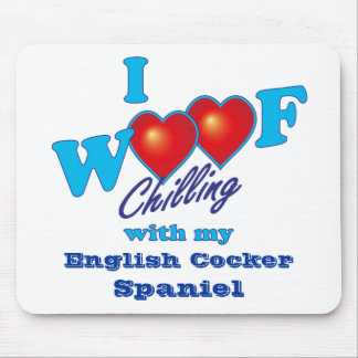 I Woof English Cocker Spaniel Mouse Pad