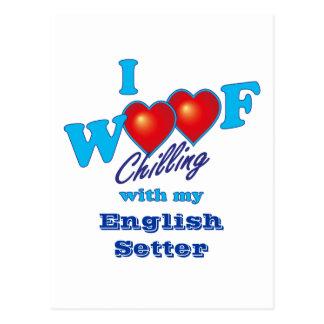 I Woof English Setter Postcard