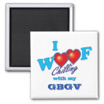 I Woof GBGV 2 Inch Square Magnet