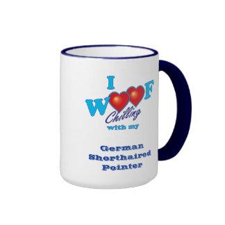 I Woof German Shorthaired Pointer Ringer Mug