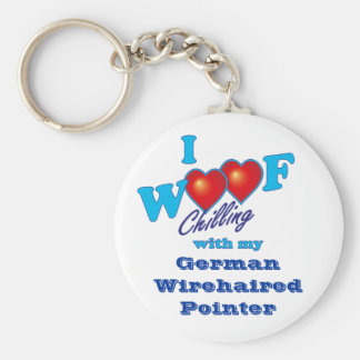 I Woof German Wirehaired Pointer Keychain
