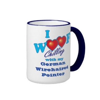 I Woof German Wirehaired Pointer Mugs