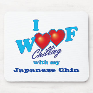 I Woof Japanese Chin Mouse Pads