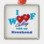 I Woof Keeshond Ornament
