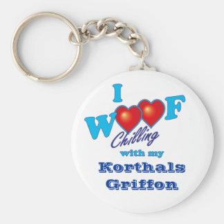 I Woof Korthals Griffon Keychains