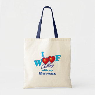 I Woof Kuvasz Tote Bag