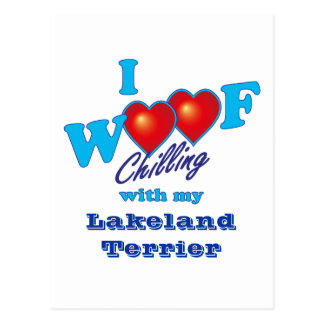 I Woof Lakeland Terrier Postcard