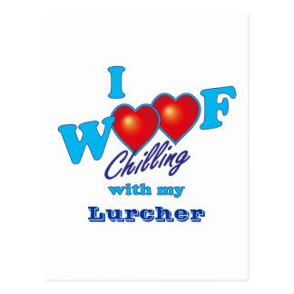 I Woof Lurcher Postcard