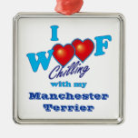 I Woof Manchester Terrier Christmas Tree Ornament