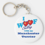 I Woof Manchester Terrier Keychain