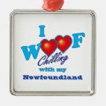 I Woof Newfoundland Ornaments