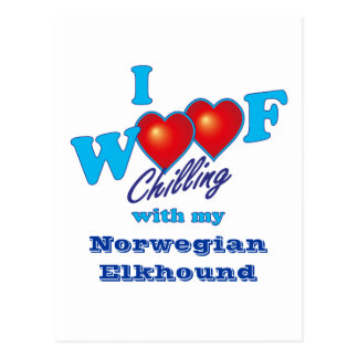 I Woof Norwegian Elkhound Postcard
