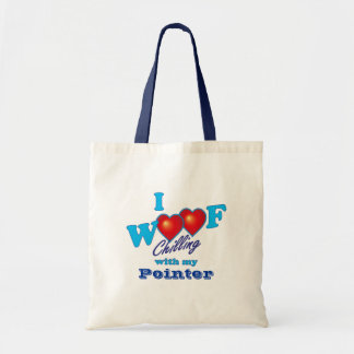 I Woof Pointer Tote Bag