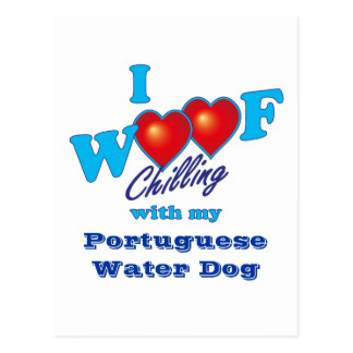 I Woof Portuguese Water Dog Postcard
