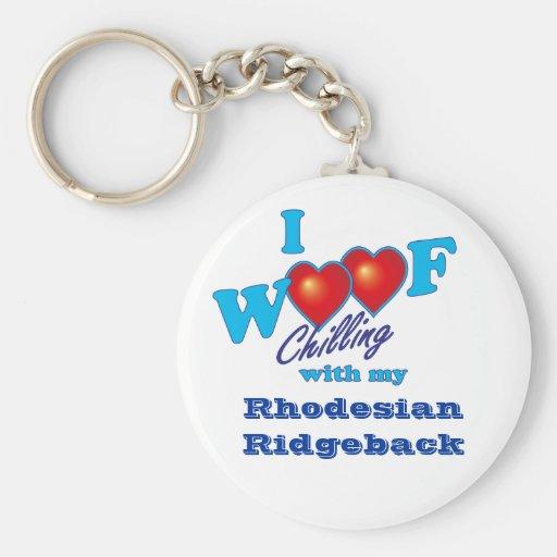 I Woof Rhodesian Ridgeback Key Chains