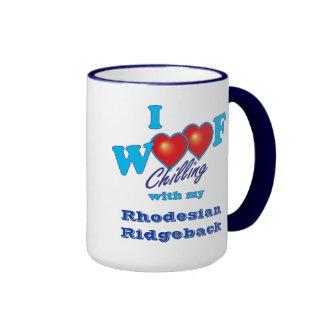 I Woof Rhodesian Ridgeback Ringer Mug