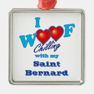 I Woof Saint Bernard Christmas Tree Ornaments