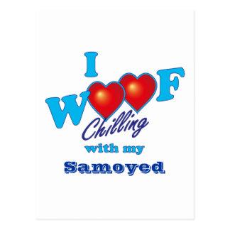 I Woof Samoyed Postcard