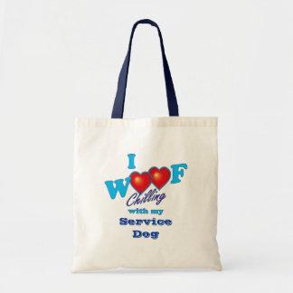 I Woof Service Dog Canvas Bag
