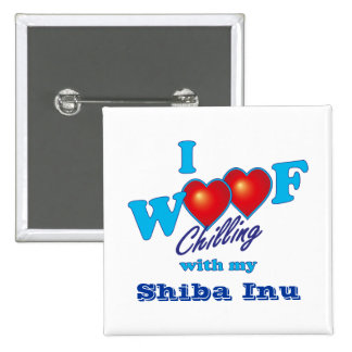 i Woof Shiba Inu Pin