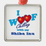 i Woof Shiba Inu Christmas Ornaments