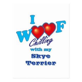 I Woof Skye Terrier Postcard