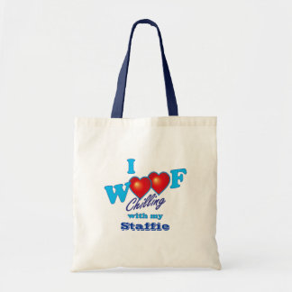 I Woof Staffies Tote Bag