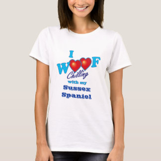 I Woof Sussex Spaniel T-Shirt